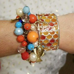 Set of 2 beach theme bracelets